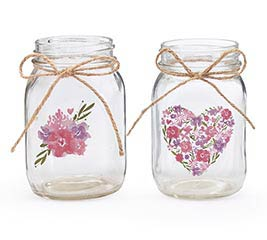 FLORAL DESIGN PINT MASON JAR ASSORTMENT