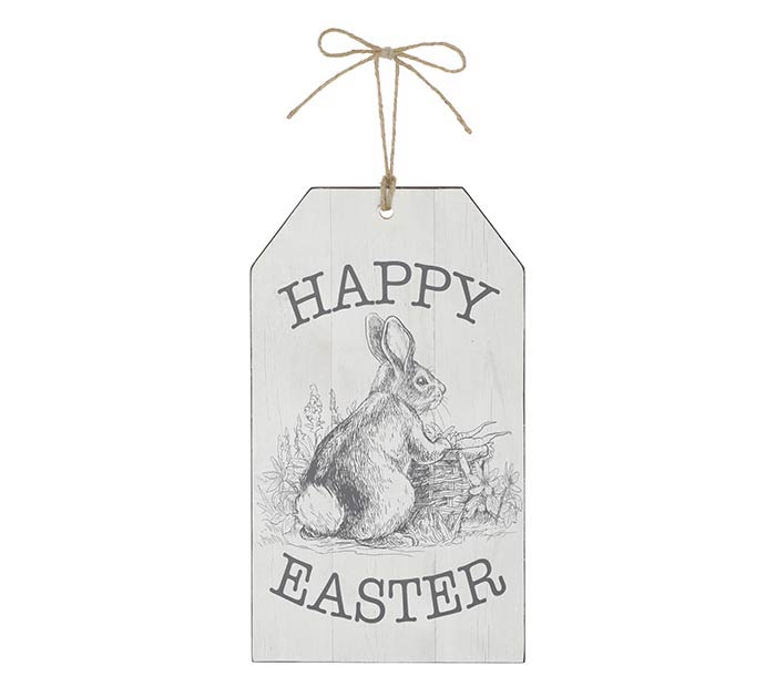 HAPPY EASTER TAG SHAPED WALL HANGING