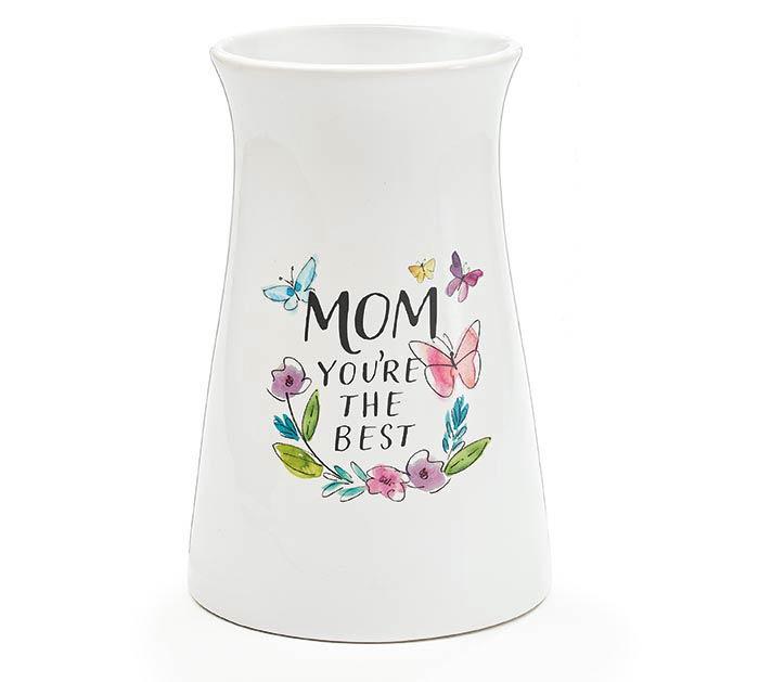 MOM YOU'RE THE BEST CERAMIC VASE