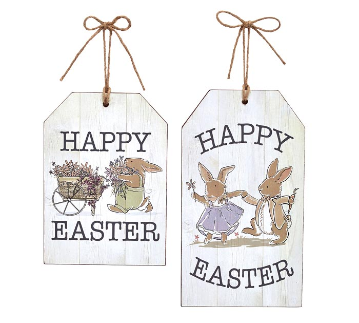 HAPPY EASTER ASSORTED TAG WALL HANGING