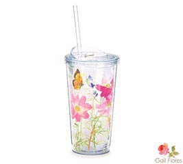 WILDFLOWERS AND BUTTERFLIES TRAVEL CUP