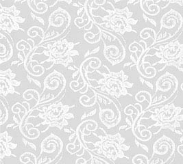 20X20 CELLO WHT LACE