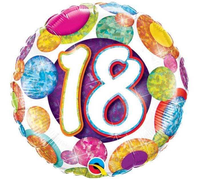 "18""PKG HBD 18 DOTS"