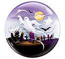 "22"" PACKAGED HALLOWEEN BUBBLE BALLOON"