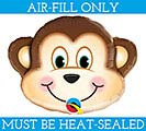 "14""FLAT MONKEY MINI SHAPE BALLOON"