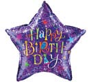 "36""PKG HAPPY BIRTHDAY STAR BALLOON"