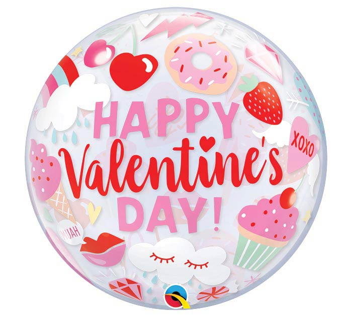 "22""PKG EVERYTHING VALENTINE'S BUBBLE"