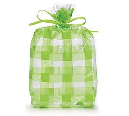 CELLO BAG GREEN COUNTRY GINGHAM