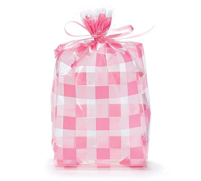 """COUNTRY GINGHAM CELLO BAG 11""""H X 5""""W"""
