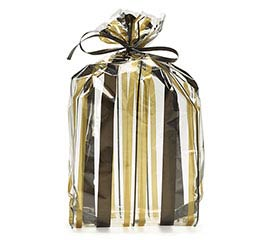 CELLO BAG SWEET STRIPES BLACK GOLD