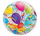 "22"" PKG HAPPY BIRTHDAY BUBBLE BALLOON 1st Alternate Image"