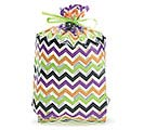 "HALLOWEEN CHEVRON CELLO BAG 11""H X 5""W"