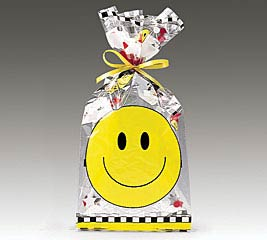 "SMILEY FACE CELLO BAG 11""H X 5""W"