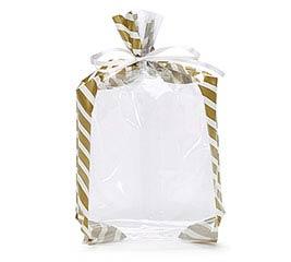 GOLD CANDY STRIPE CELLO BAG