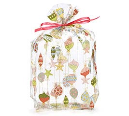 CELLO BAG LARGE MERRY ORNAMENTS