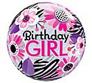 "22"" PKG BIRTHDAY GIRL BUBBLE BALLOON 1st Alternate Image"