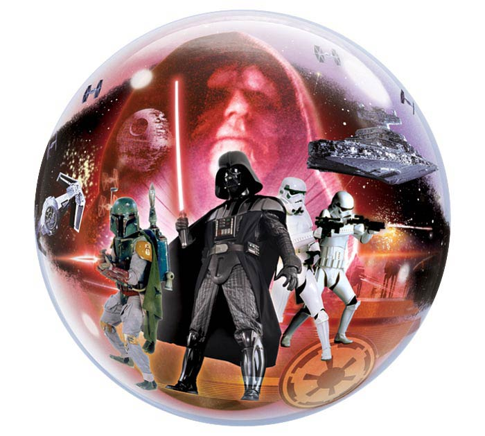 "22"" PKG STAR WARS BUBBLE BALLOON"