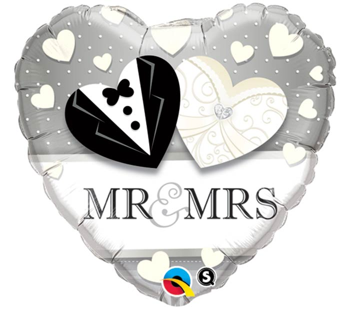 "18""PKG WED MR  MRS"