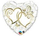 "18""PKG GOLD HEARTS"