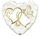 "36""PKG LUV GOLD ENTWINED HEARTS"
