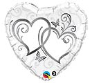 "18""PKG SILVER HEARTS"