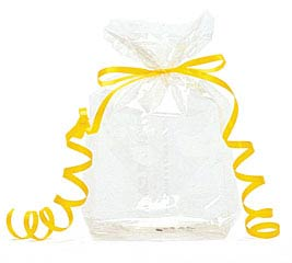 "CLEAR CELLO BAG 7""H X 3""W"