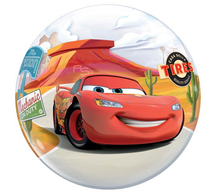 22 Pkg Cars Characters Bubble Balloon
