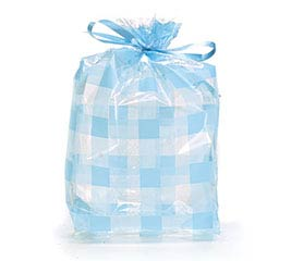 CELLO BAG LT BLUE COUNTRY GINGHAM