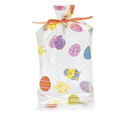 "EASTER CHICK CELLO BAG 7""H X 3""W"