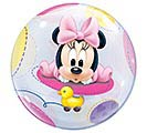 "22"" PKG BABY MINNIE MOUSE BUBBLE BALLOON 1st Alternate Image"