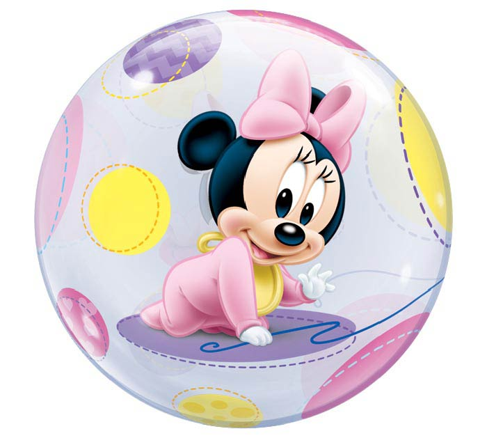 "22"" PKG BABY MINNIE MOUSE BUBBLE BALLOON"