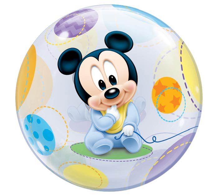 "22"" PKG BABY MICKEY MOUSE BUBBLE BALLOON"