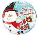 "18"" MERRY CHRISTMAS SNOWMAN BALLOON"