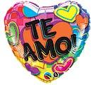 "18""SPA TE AMO HEARTS"
