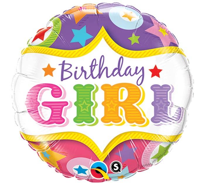 """18""""PKG HBD GIRL"""