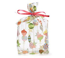CELLO BAG SMALL MERRY ORNAMENTS