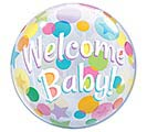"22"" PKG WELCOME BABY BUBBLE BALLOON"
