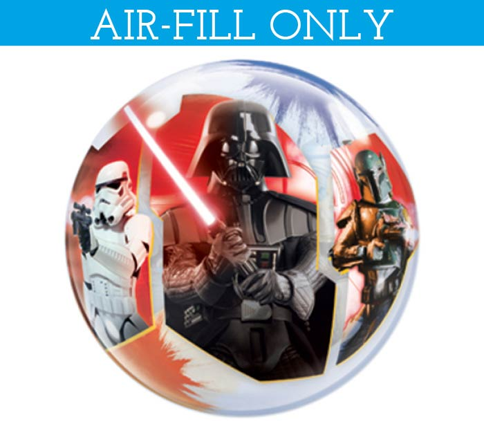 """12""""FLAT STAR WARS BUBBLE AIR FILL ONLY"""