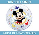 "12"" MICKEY MOUSE BUBBLE AIR FILL ONLY"