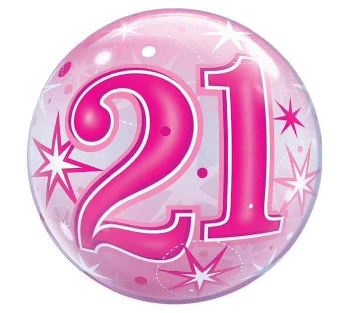 """22""""PKG HBD 21 BUBBLE"""
