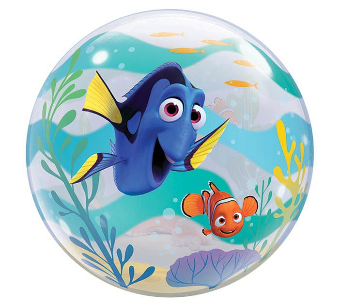 "22"" PKG FINDING DORY BUBBLE BALLOON"
