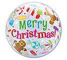 """22"""" PKG MERRY CHRISTMAS BUBBLES"""