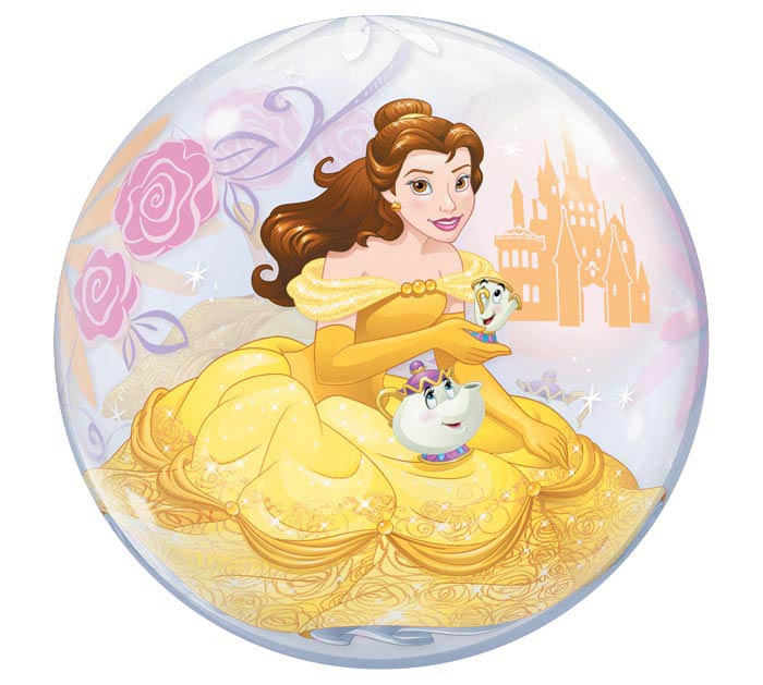 "22"" PKG BELLE PRINCESS BUBBLE BALLOON"