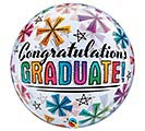 "22""PKG GRAD CONGRATULATIONS BUBBLE"