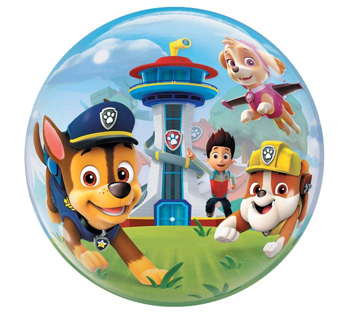 "22"" PKG PAW PATROL BUBBLE BALLOON"