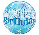 "22""PKG HBD BLUE STARBURST BUBBLE"