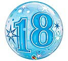 "22""PKG HBD 18 BLUE STARBURST BUBBLE"