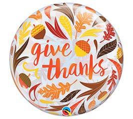"22""PKG THG GIVE THANKS BUBBLE"
