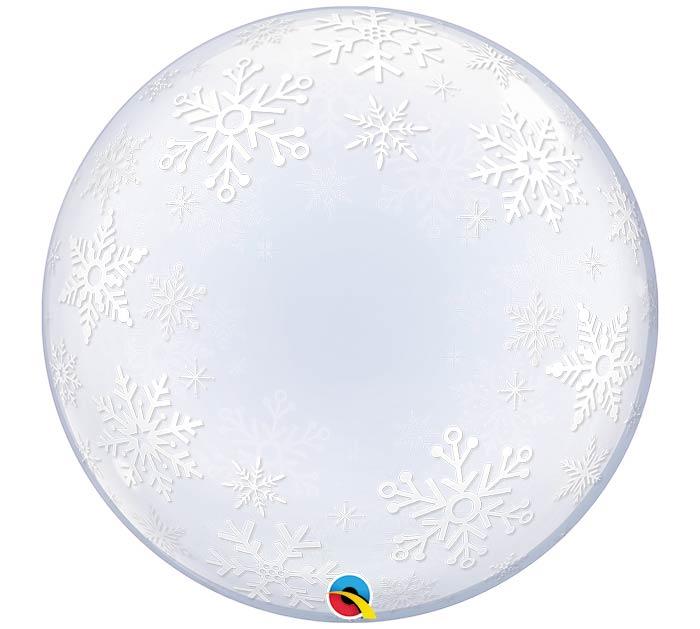 """24""""PKG FROSTY SNOWFLAKES DECO BUBBLE"""