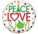 "18""XMA PEACE LOVE  JOY"